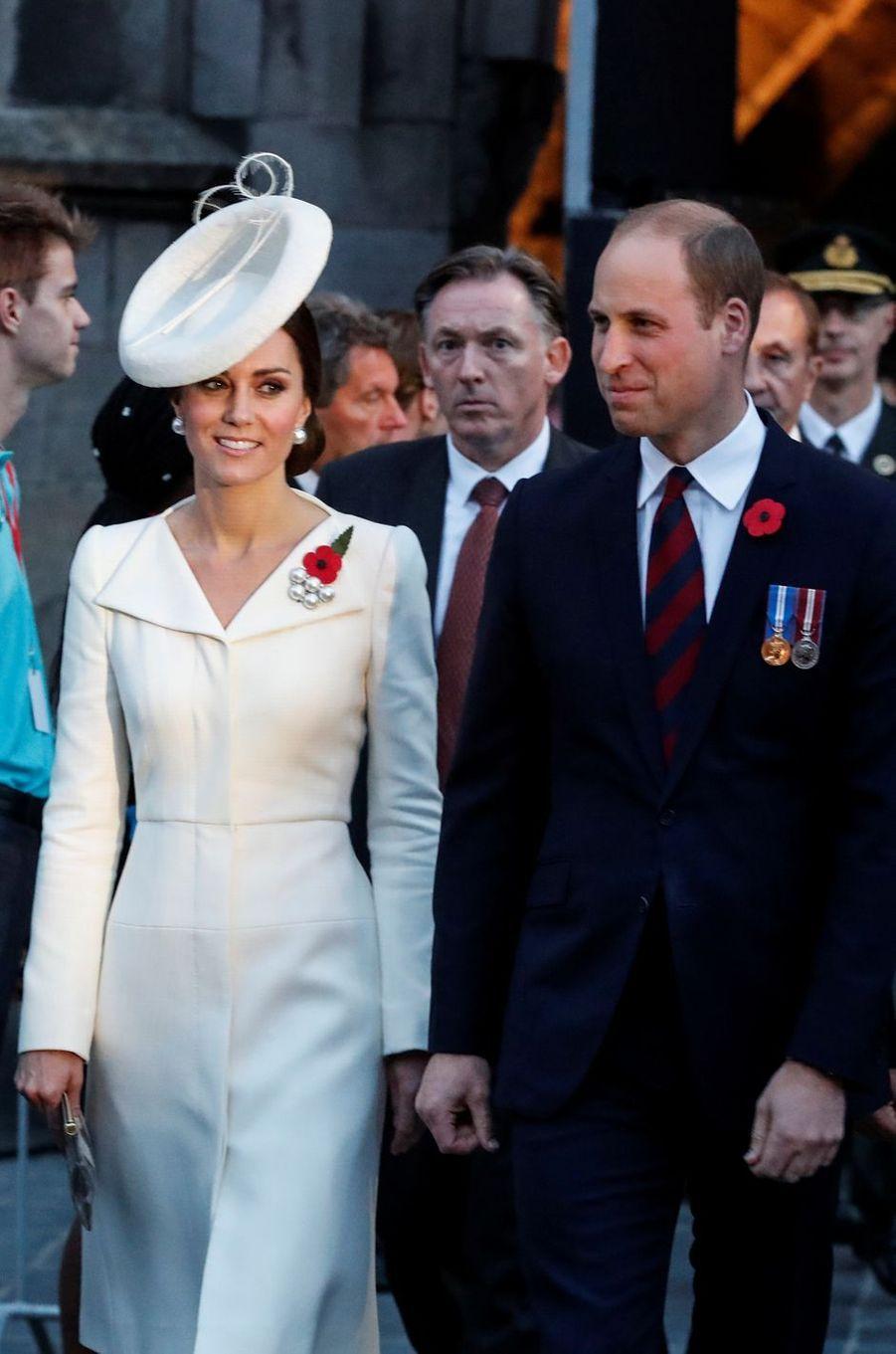 Kate Middleton à Ypres le 30 juillet 2017