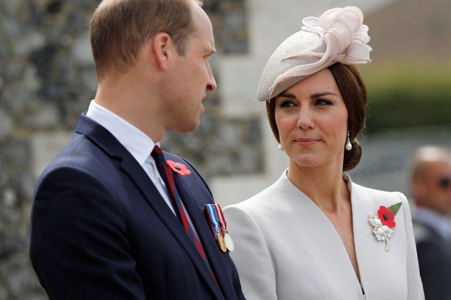 Kate Middleton au cimetière militaire de Tyne Cot près d'Ypres, le 31 juillet 2017