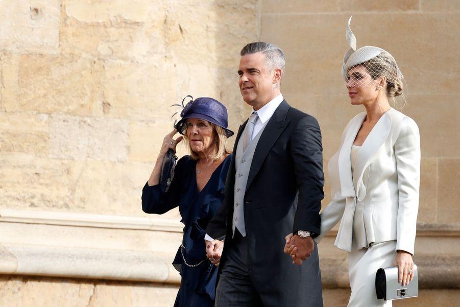 Robbie Williams et son épouse Ayda Field.