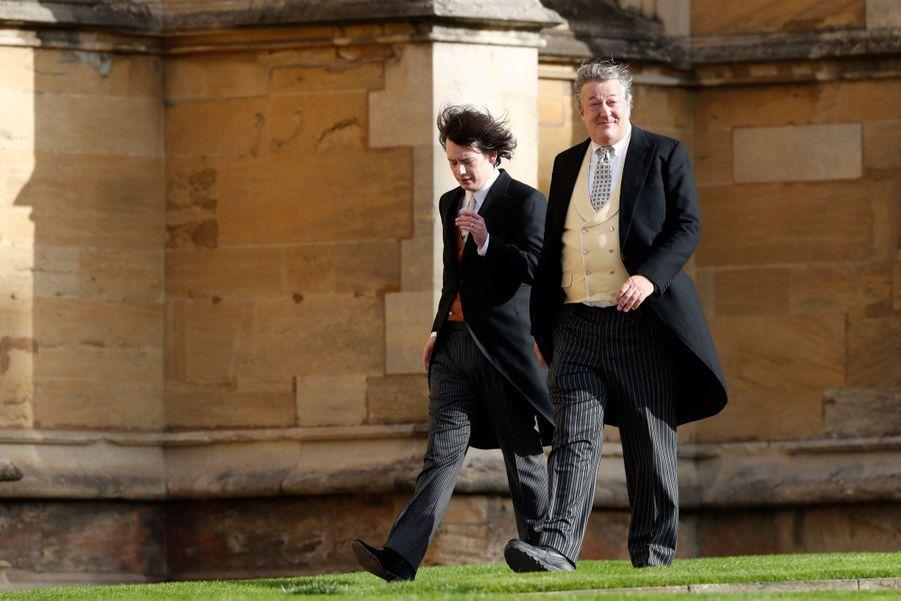 Stephen Fry et son mari Elliott Spencer.