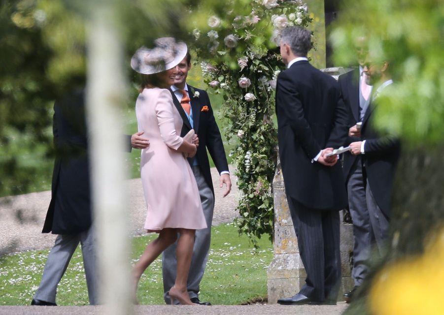 Carole Middleton au mariage de Pippa Middleton