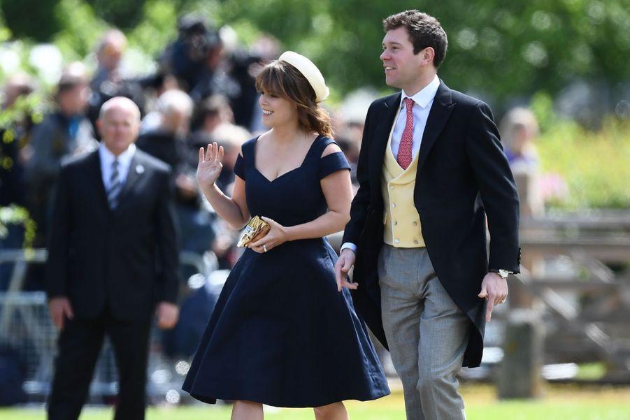 La princesse Eugenie et son compagnon Jack Brooksbank au mariage de Pippa Middleton