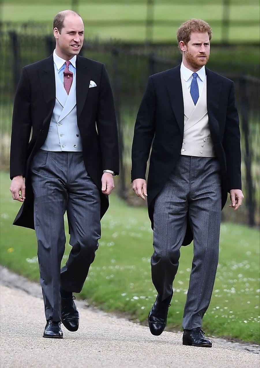 Les princes William et Harry au mariage de Pippa Middleton