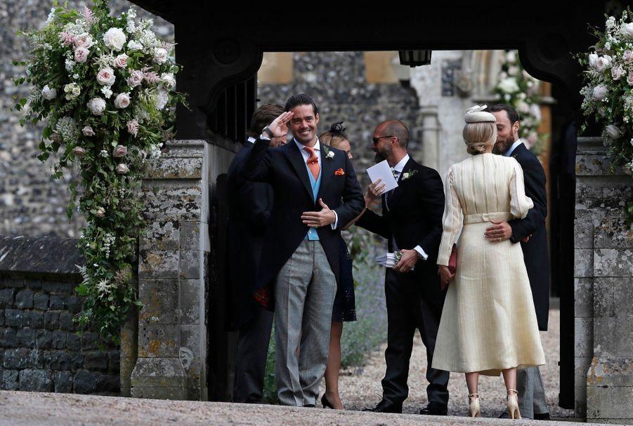 Spencer Matthews témoin de son frère James, lors de son mariage avec Pippa Middleton