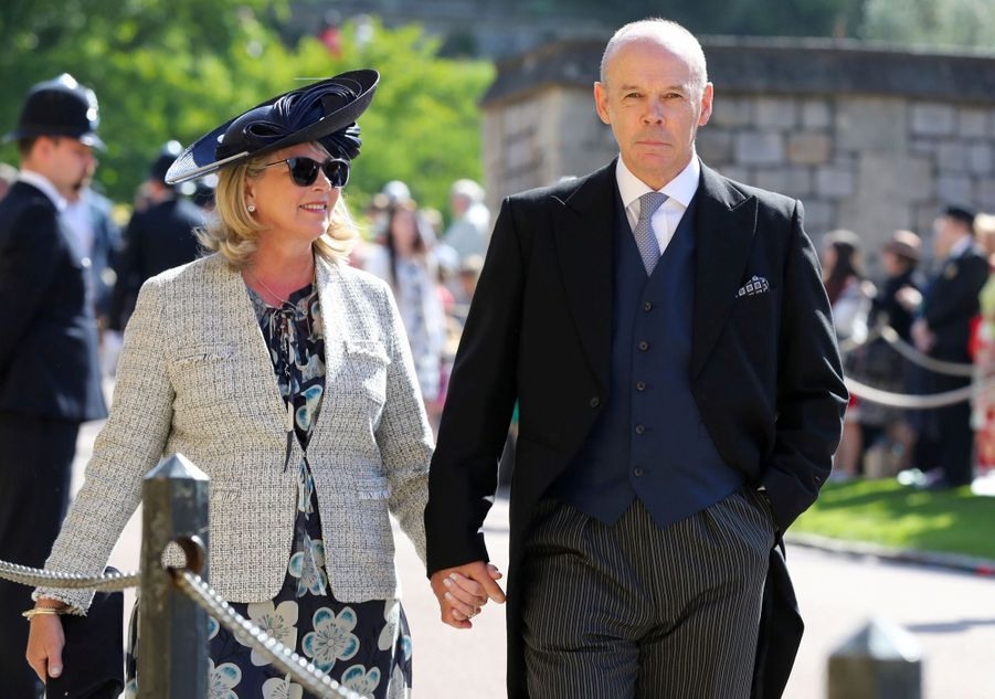 Sir Clive Woodward and Jayne Williams au mariage de Meghan et Harry en photos