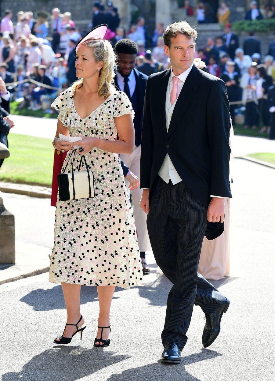 Louise Grosvenor et Dan Snow au mariage de Meghan et Harry