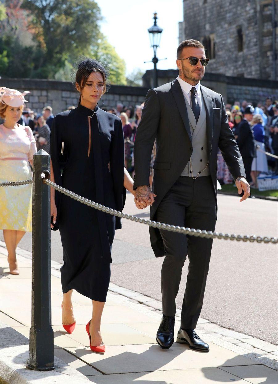 David et Victoria Beckam au mariage de Meghan et Harry