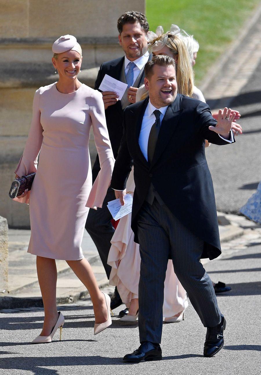 James Corden et son épouse Julia Careyet au mariage de Meghan et Harry