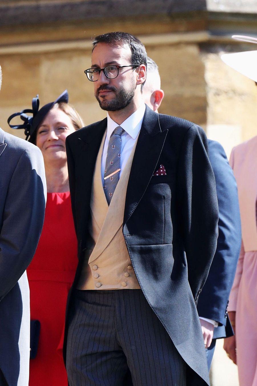 Miguel Head, secrétaire particulier de William,au mariage de Meghan et Harry