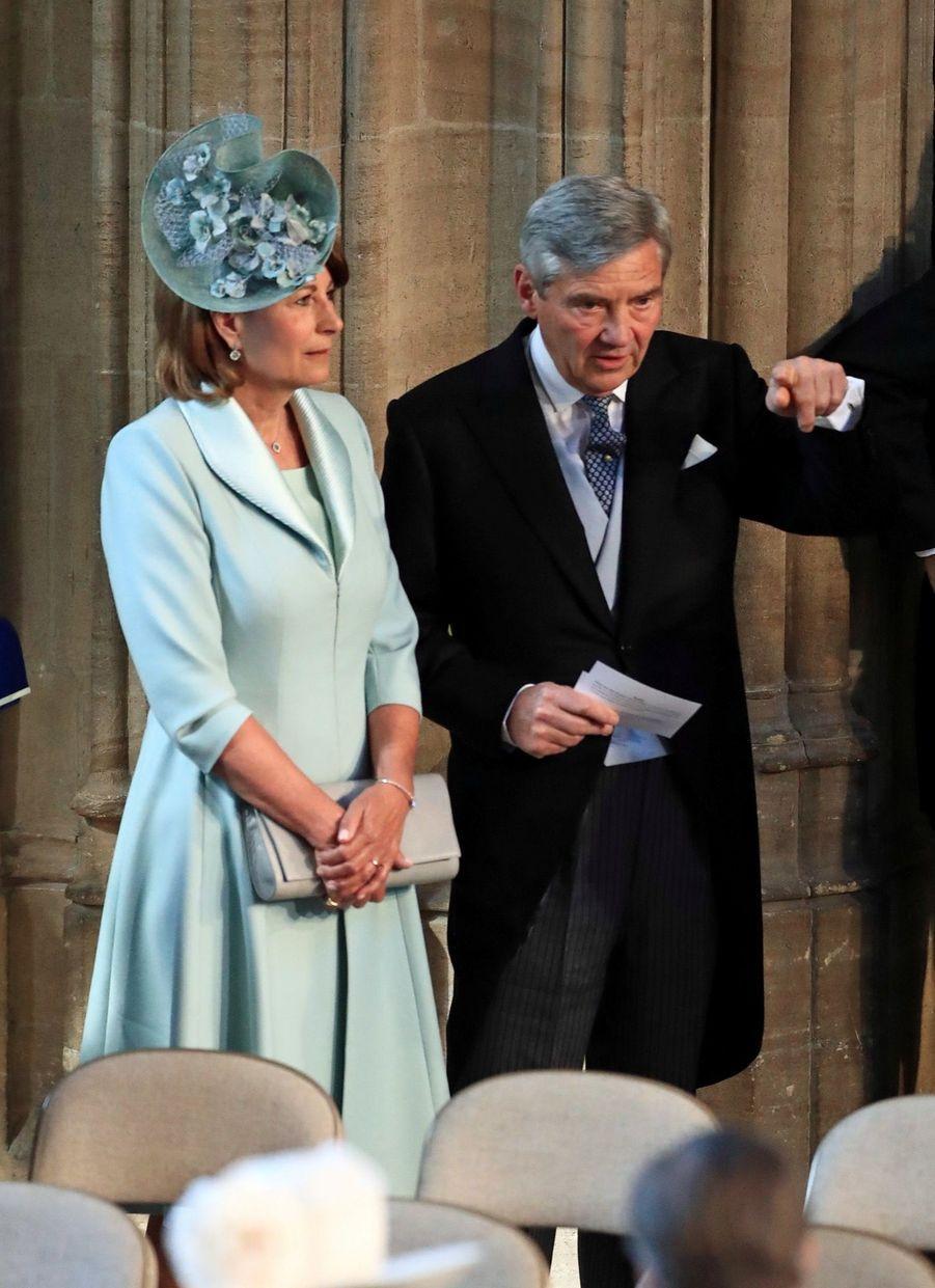 Michael et Carole Middleton, les parents de Kate,au mariage de Meghan et Harry