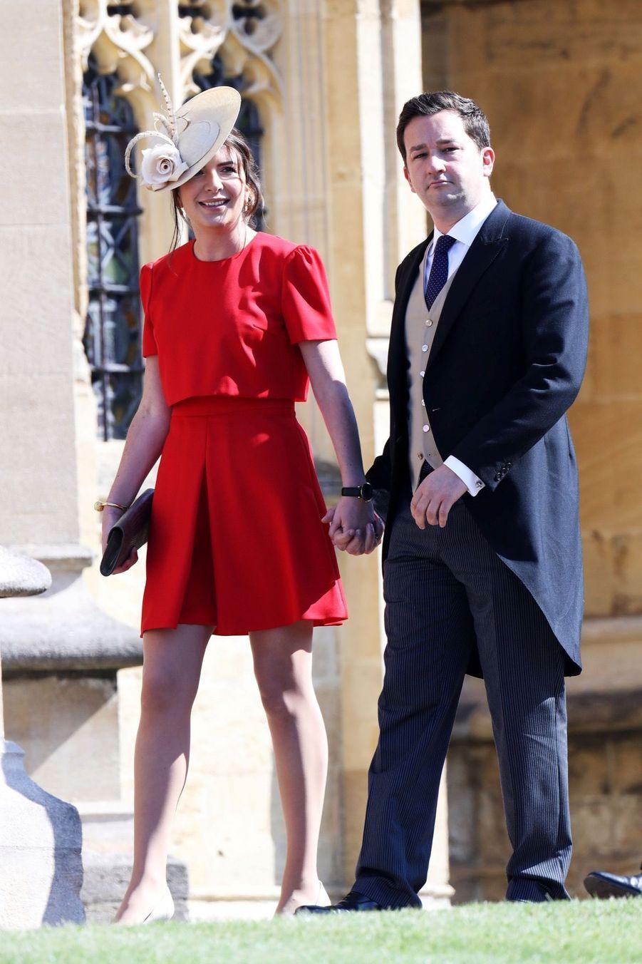 Becca Deacon, ancienne secrétaire privée de Kate Middleton,au mariage de Meghan et Harry