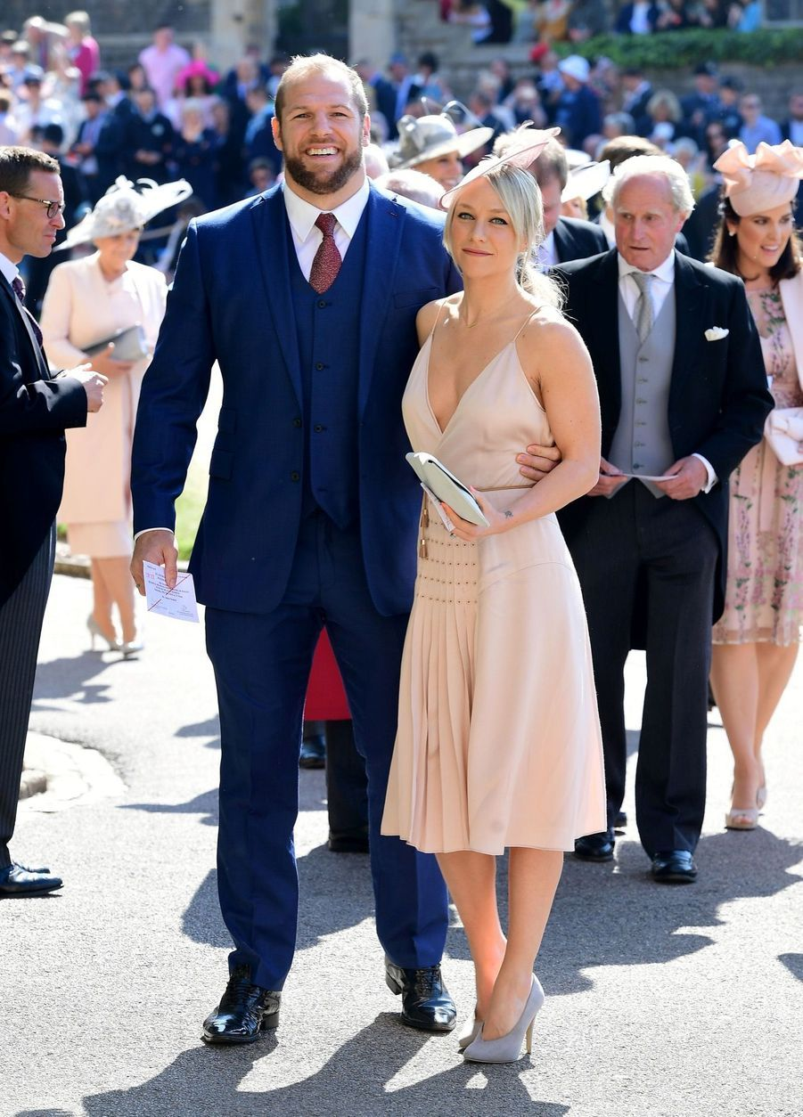 James Haskell et Chloe Madeley au mariage de Meghan et Harry