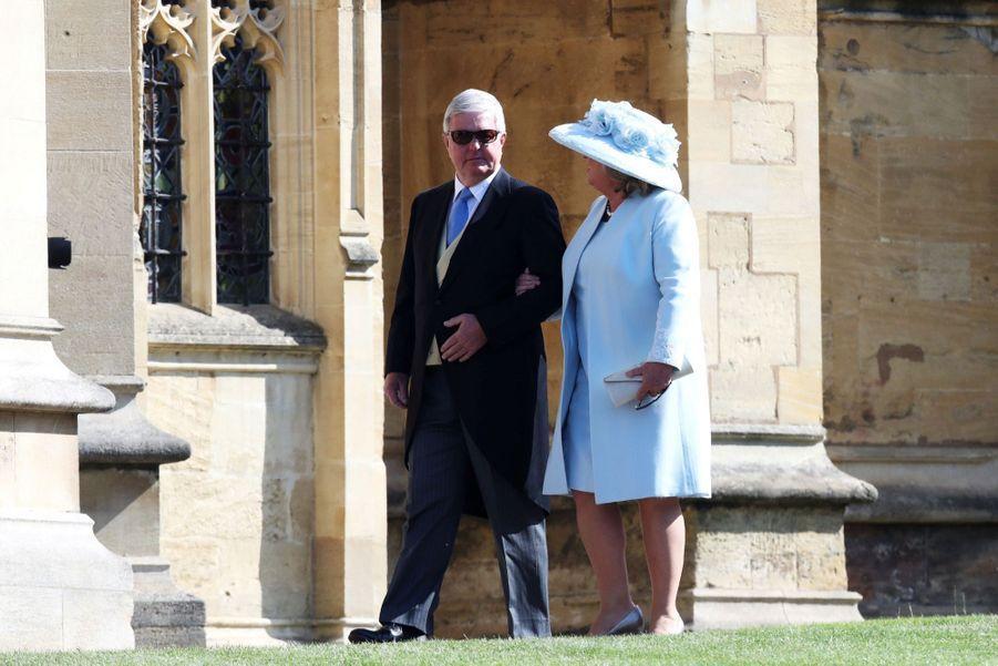 Sir Keith Mills et son épouse Maureen au mariage de Meghan et Harry