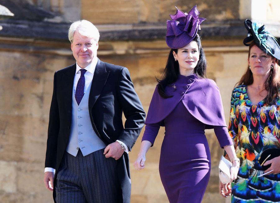 Charles Spencer, frère de Diana, avec son épouse Karen au mariage de Meghan et Harry