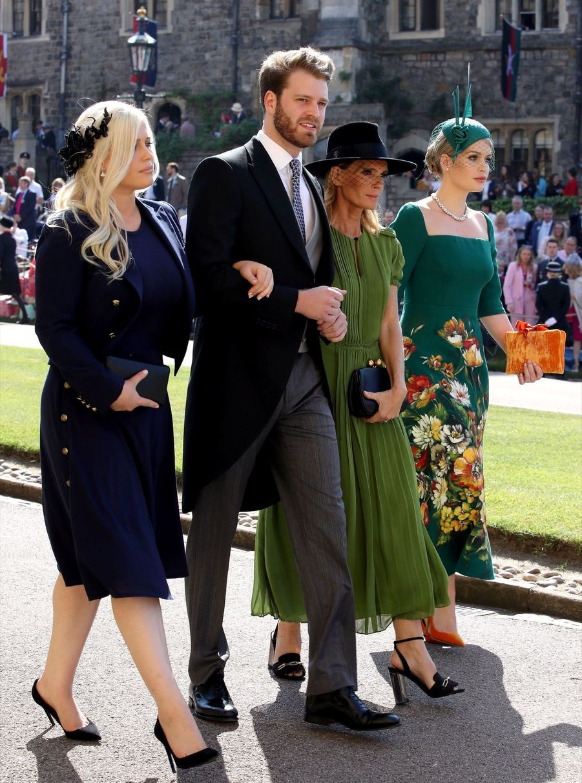 Eliza Spencer, Louis Spencer, Victoria Aitken et Kitty Spencer au mariage de Meghan et Harry