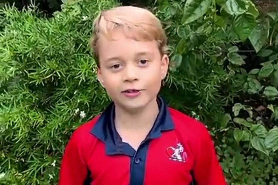 Le prince George questionnant Sir David Attenborough sur une vidéo partagée en octobre 2020