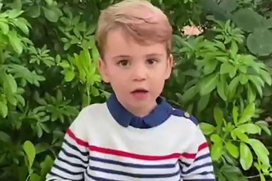 Le prince Louis questionnant Sir David Attenborough sur une vidéo partagée en octobre 2020