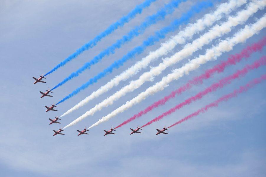 """Lors de la cérémonie """"Trooping the Colour"""", le 9 juin 2018."""