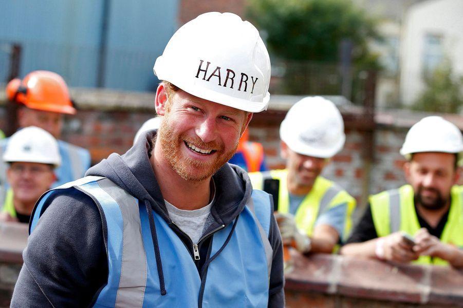 Le prince Harry à Manchester, le 23 septembre 2015