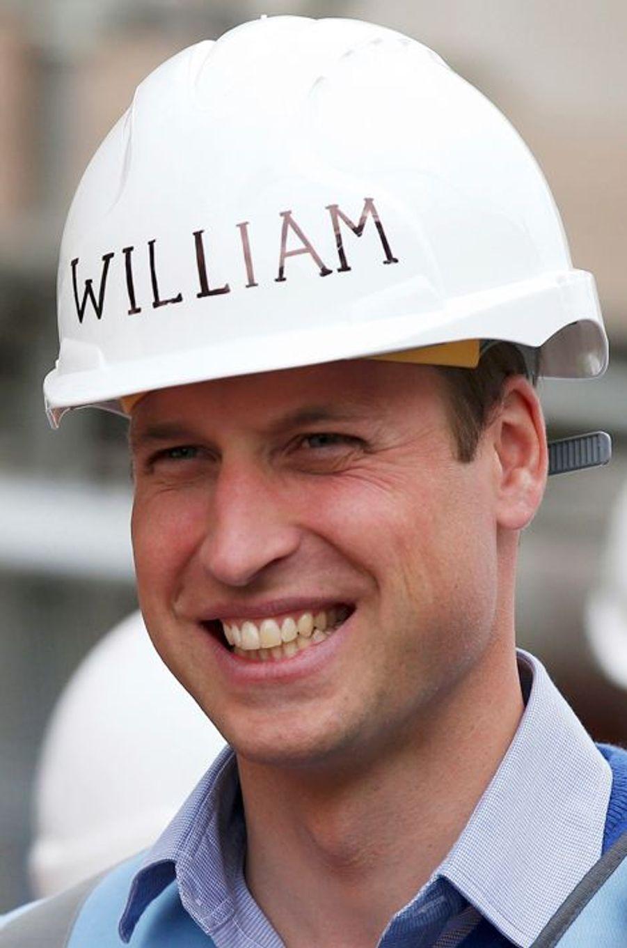 Le prince William à Manchester, le 23 septembre 2015