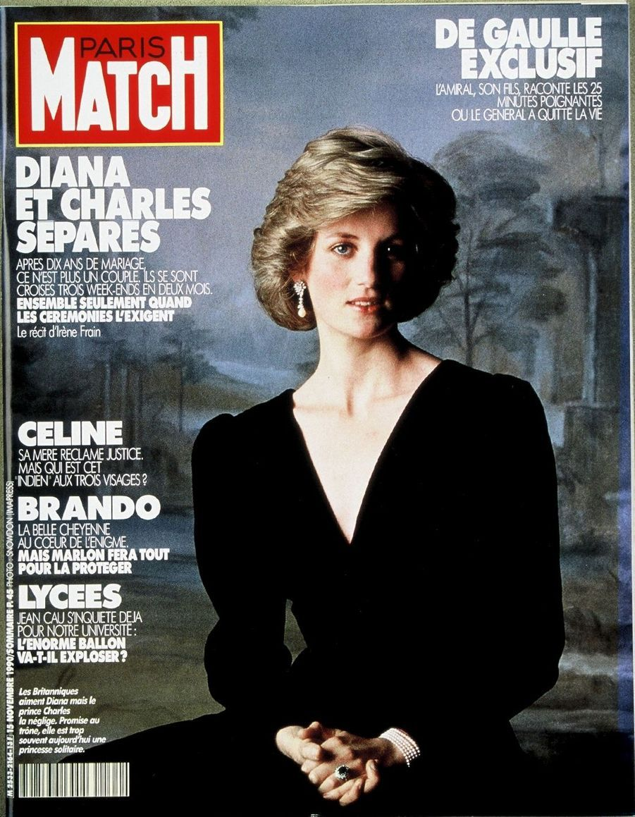 La princesse Diana, novembre 1990