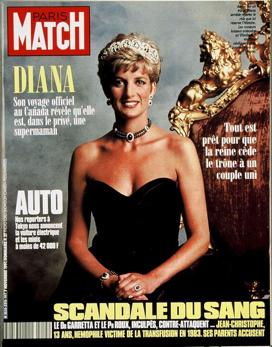 La princesse Diana, novembre 1991