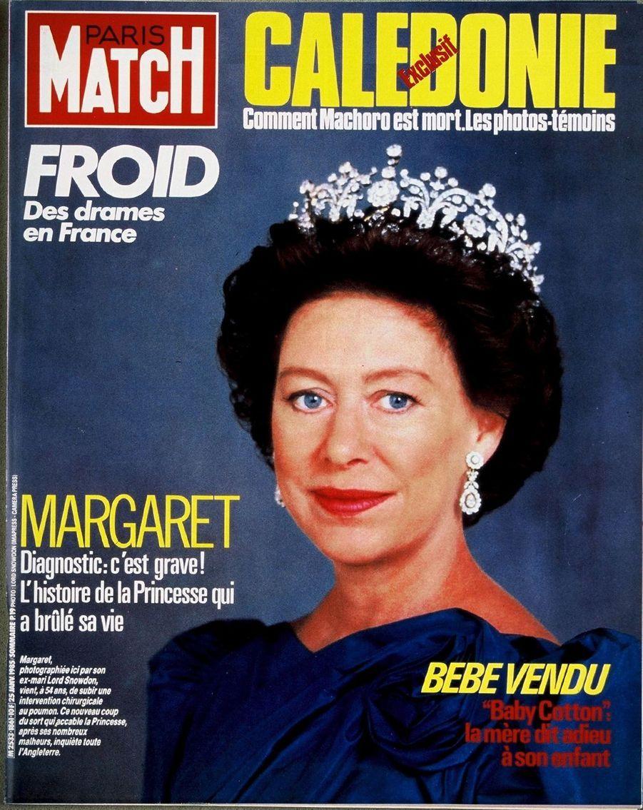 La princesse Margaret, janvier 1985