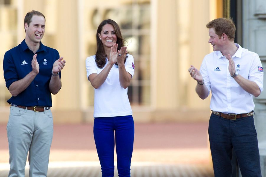 Kate, William et Harry lancent les JO de Londres, le 26 juillet 2012