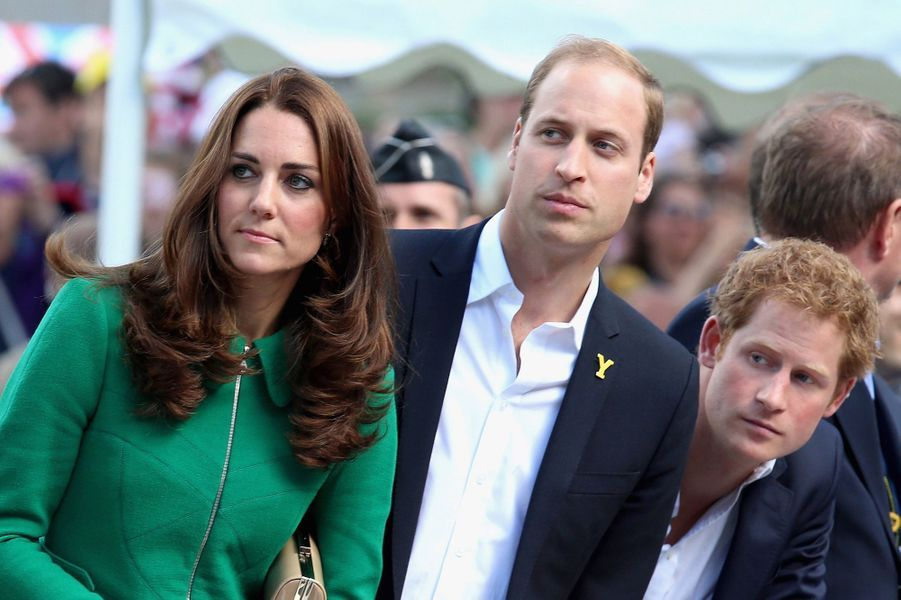 Kate, William et Harry au départ du Tour de France, le 5 juillet 2014