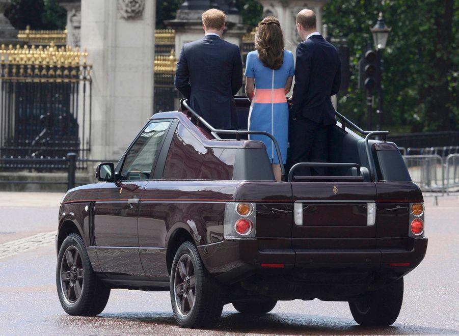 Kate, William et Harry aux célébrations du 90e anniversairede la reine Elizabeth II, le 12 juin 2016