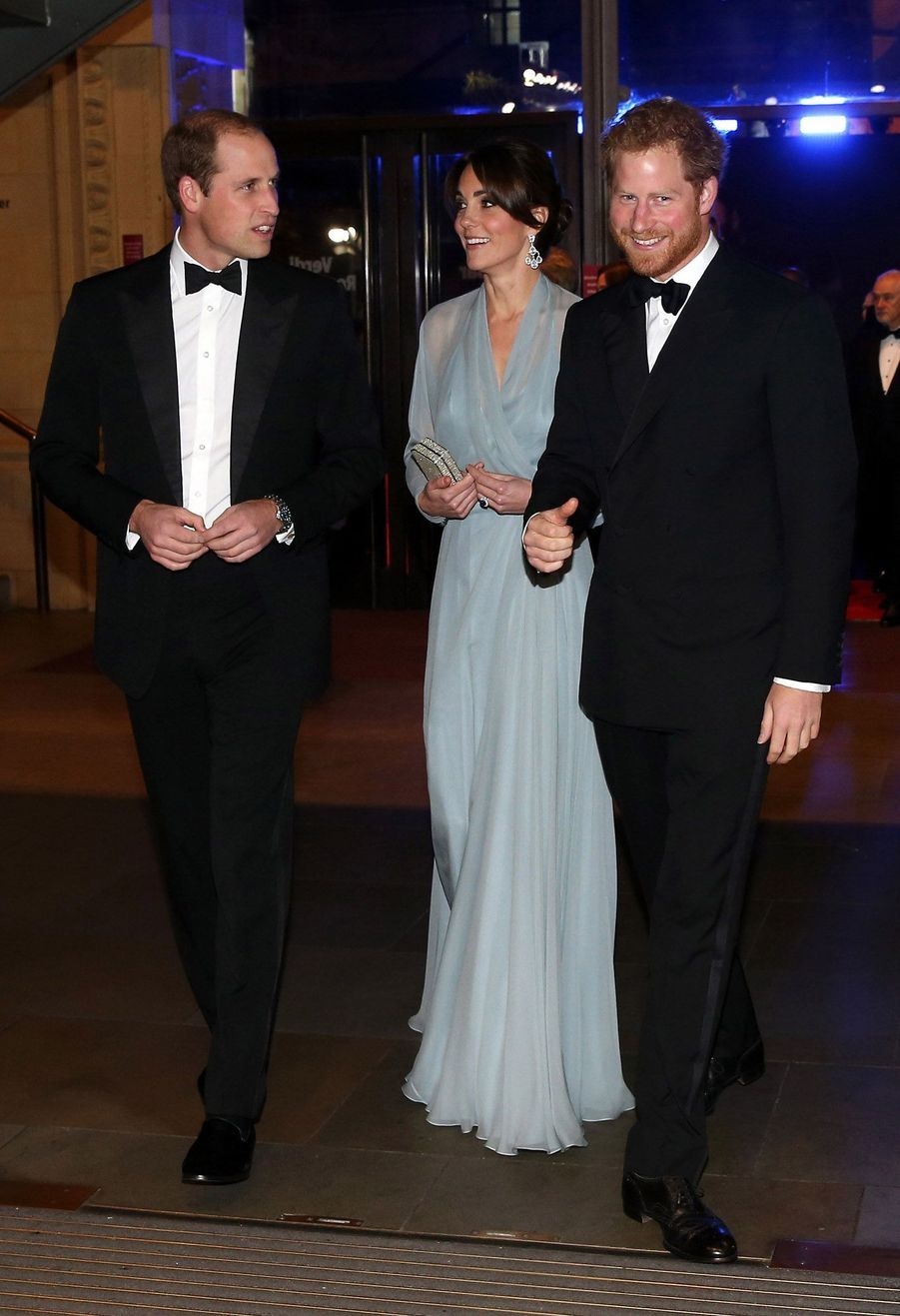 "Kate, William et Harry à la première du James Bond ""Spectre"", à Londres, le 26 octobre 2015"