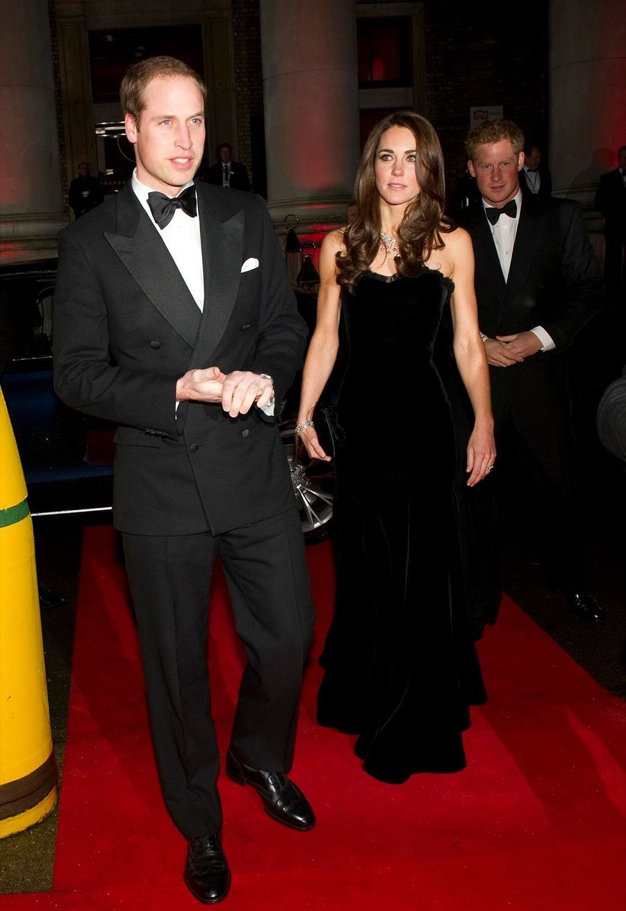 Kate, William et Harry à l'Imperial War Museum de Londres, le 19 décembre 2011