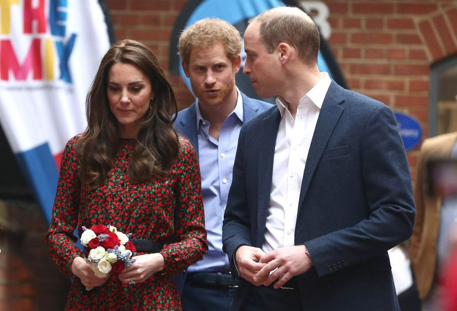 Kate, William et Harry au Harrow Club de Londres, le 19 décembre 2016
