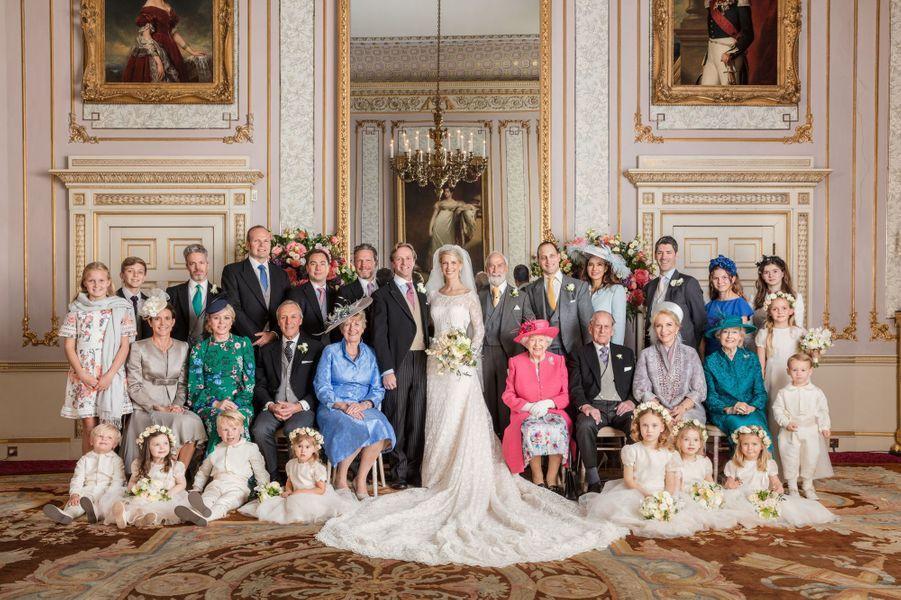 Photo officielle du mariage de Lady Gabriella Windsor et de Thomas Kingston à Frogmore House, le 18 mai 2019