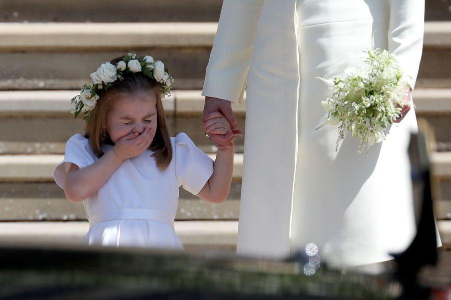 La princesse Charlotte après le mariage du Prince Harry et de Meghan Markle.