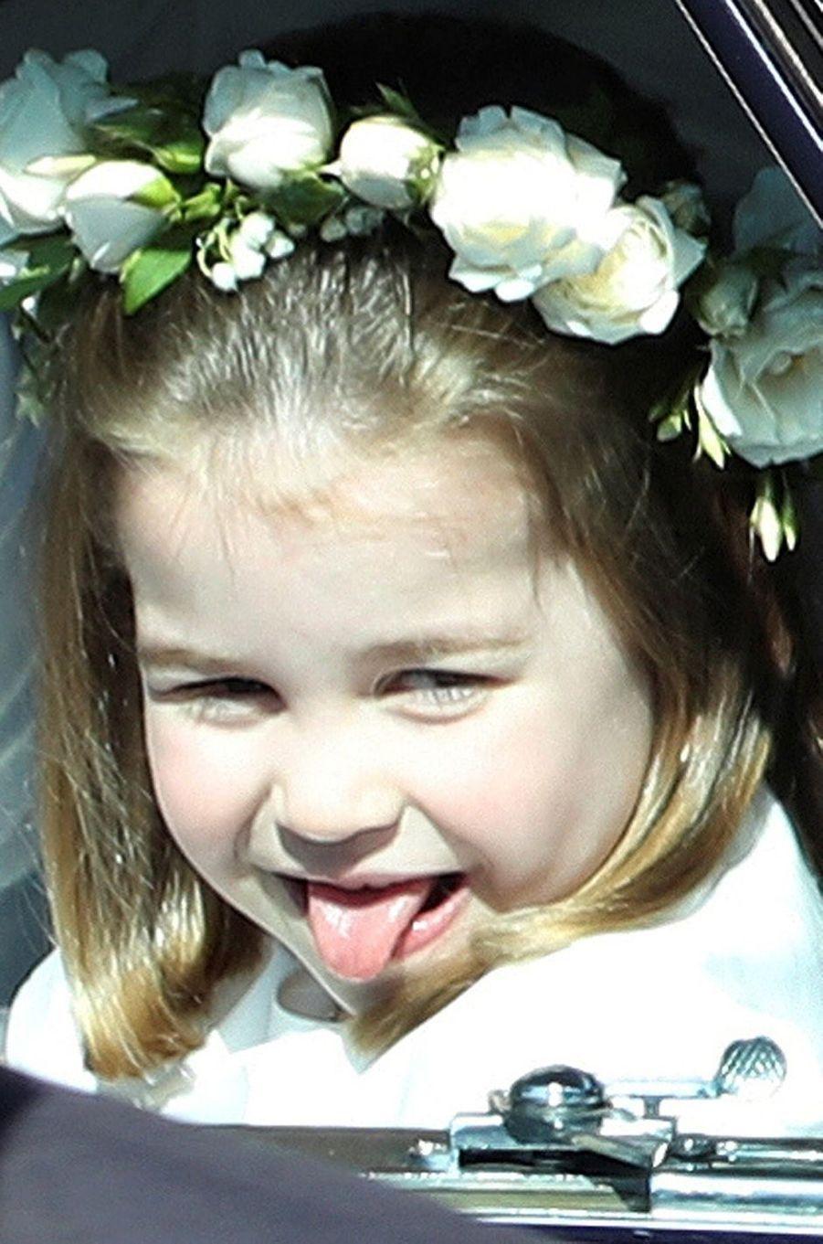 La princesse Charlotte au mariage de son oncle, le prince Harry.