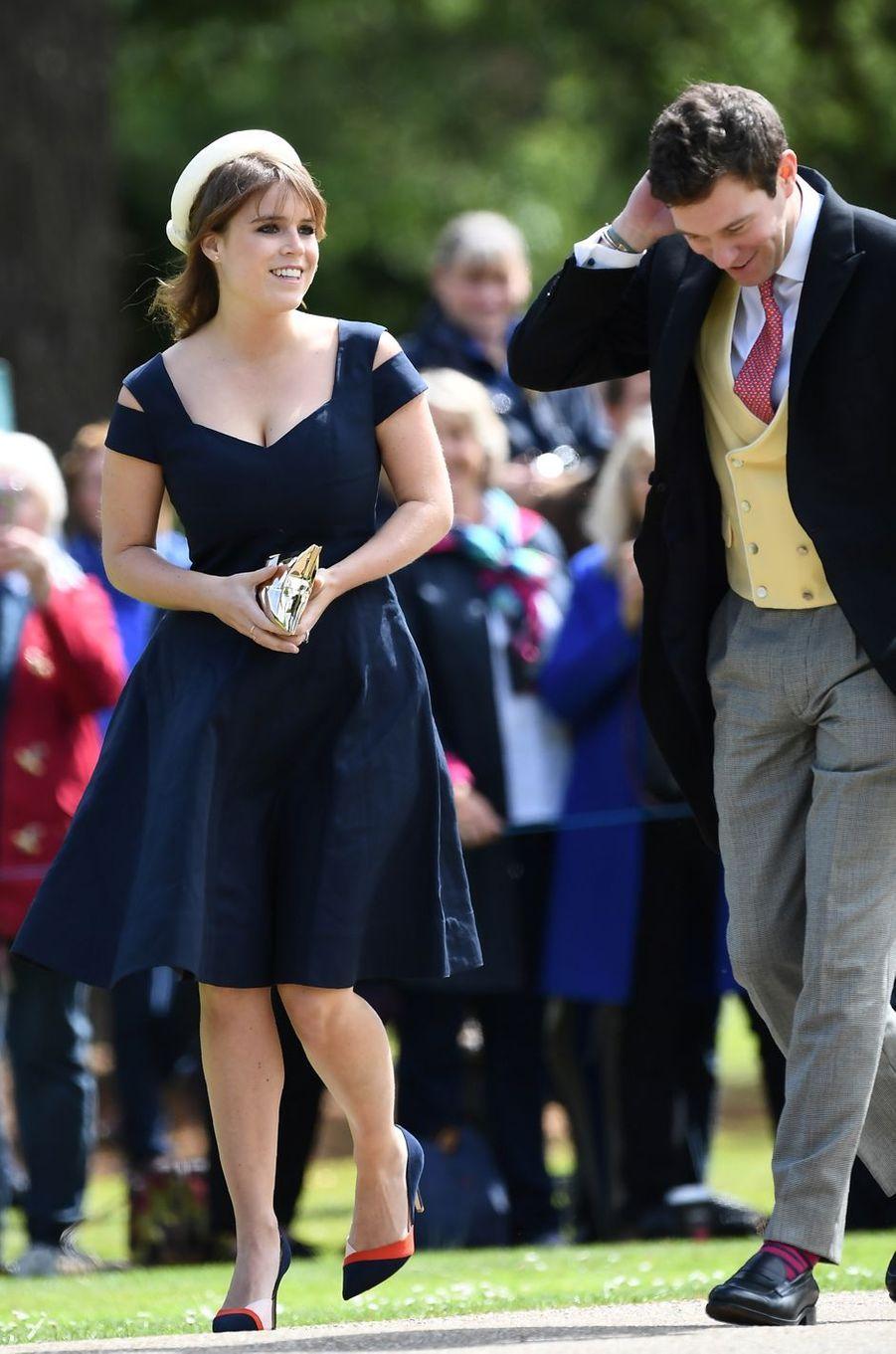 La princesse Eugenie d'York au mariage de Pippa Middleton à Englefield, le 20 mai 2017