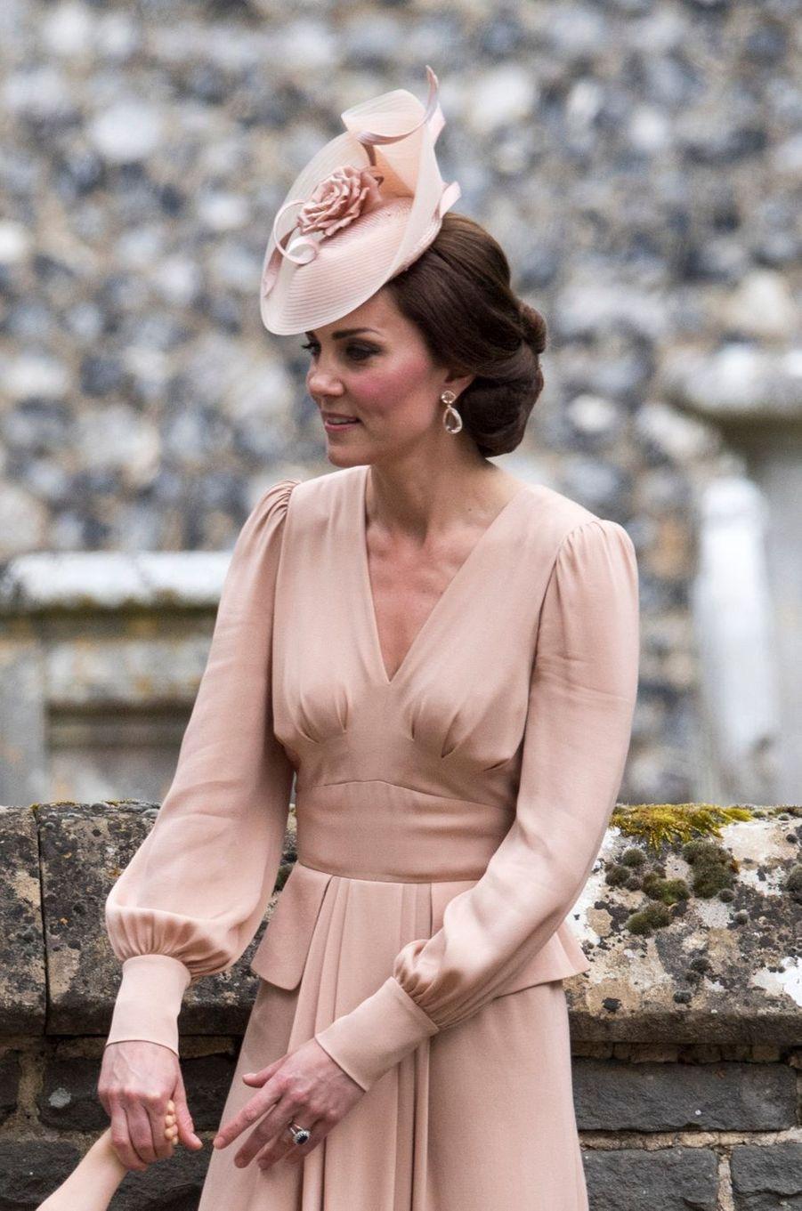 La duchesse Catherine de Cambridge au mariage de Pippa Middleton à Englefield, le 20 mai 2017