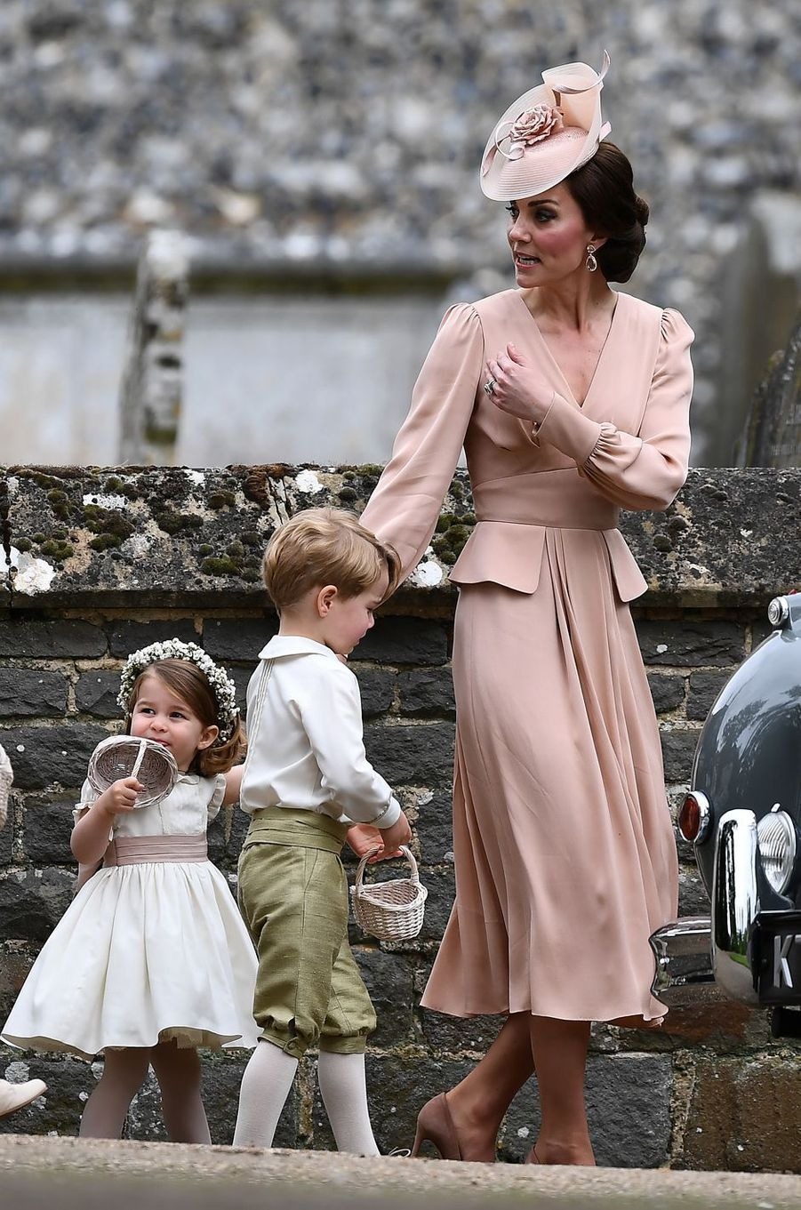 Kate au mariage de sa soeur Pippa Middleton à Englefield, le 20 mai 2017