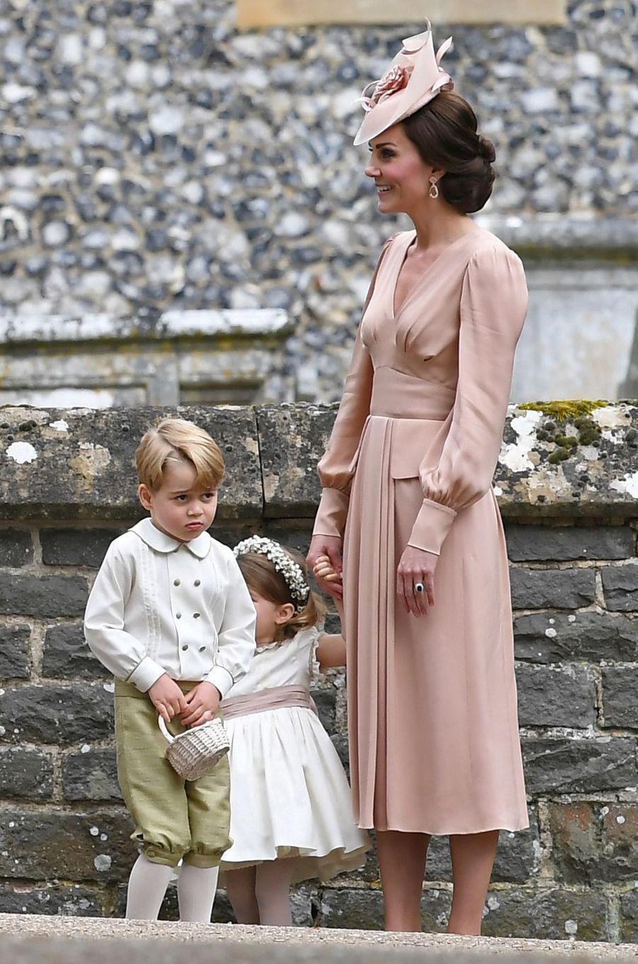Kate, duchesse de Cambridge, au mariage de Pippa Middleton à Englefield, le 20 mai 2017
