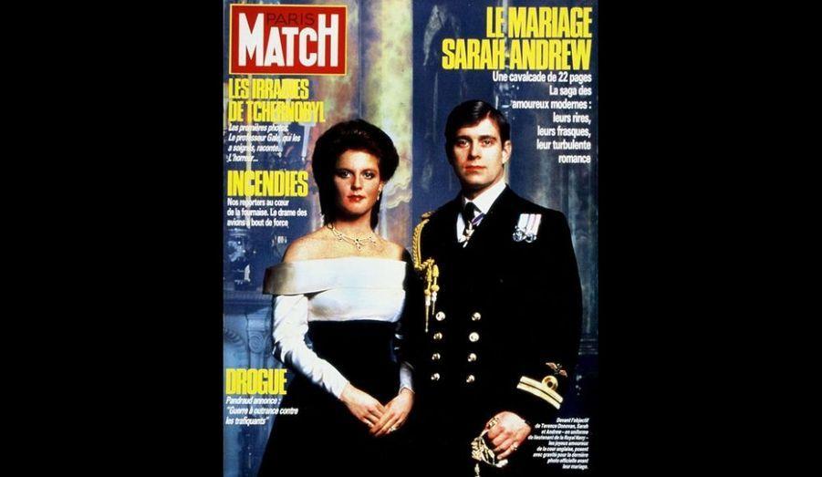 1er Août 1986. Le mariage Sarah-Andrew.