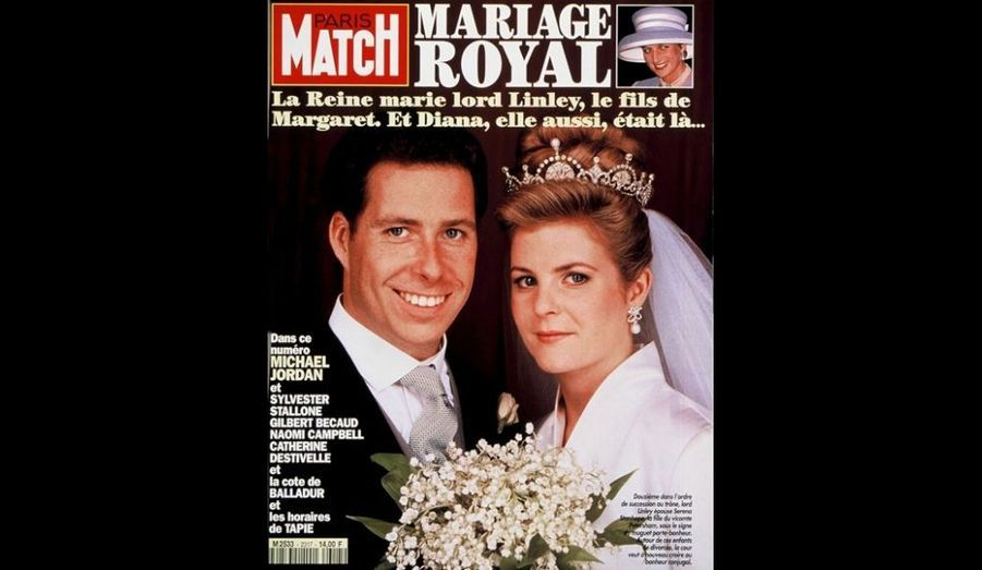 21 Octobre 1993. La Reine marie lord Linley.