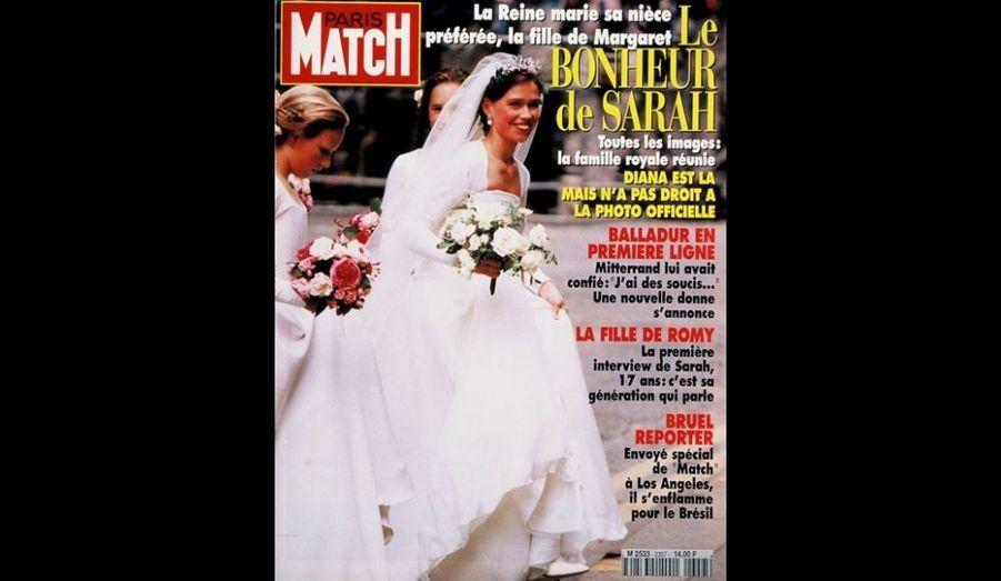 28 Juillet 1994. Le bonheur de Lady Sarah Chatto.