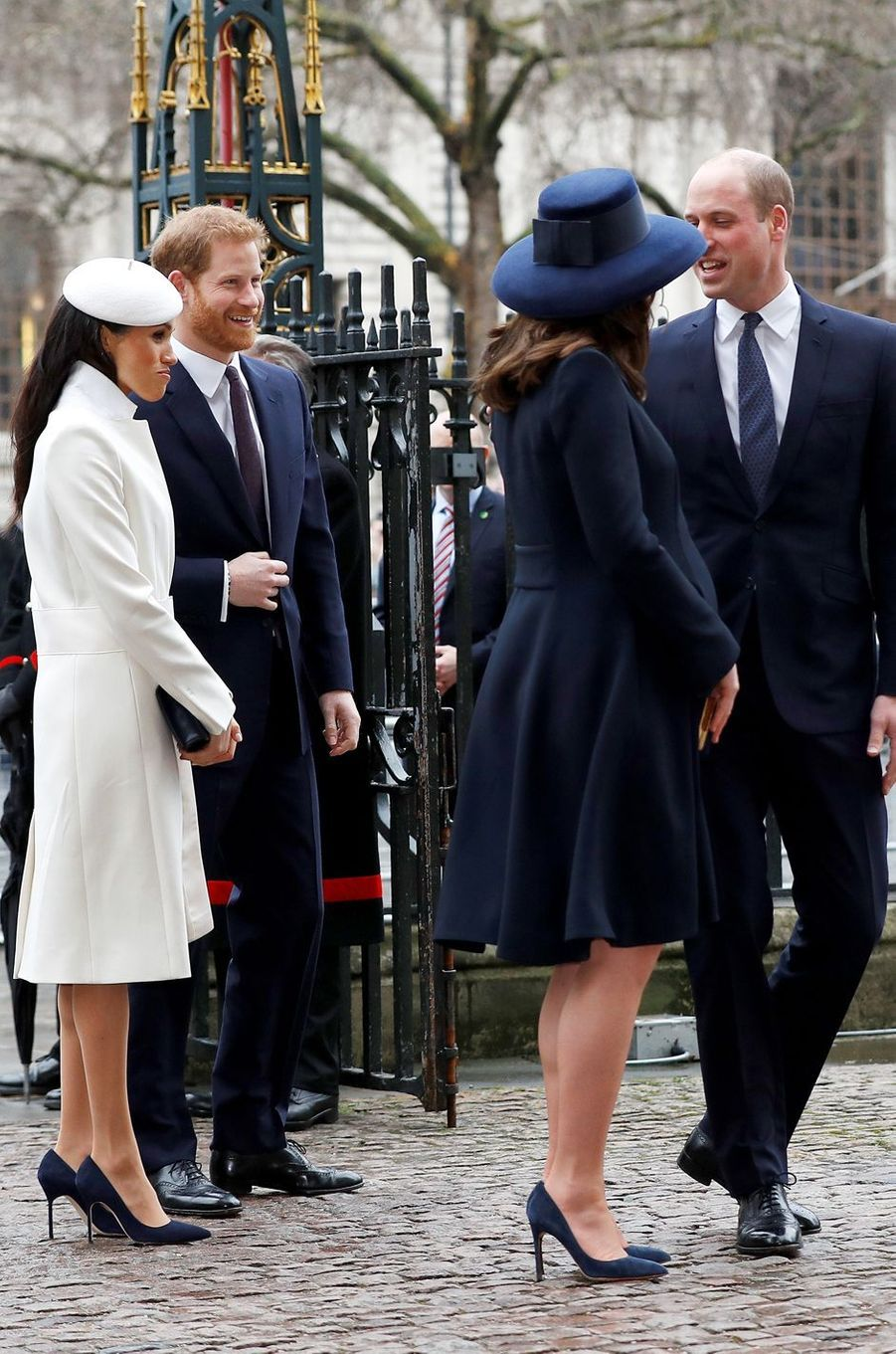 Meghan Markle, le prince Harry, la duchesse Catherine de Cambridge et le prince William à Londres, le 12 mars 2018
