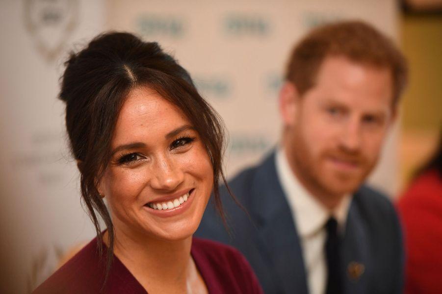Meghan Markle et le prince Harryau château de Windsor le 25 octobre 2019