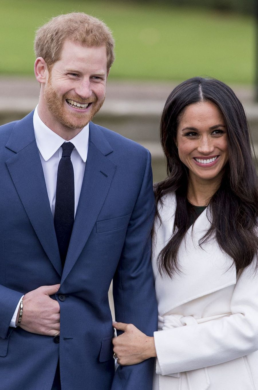 Harry et Meghan le jour de l'annonce de leurs fiançailles en novembre 2017