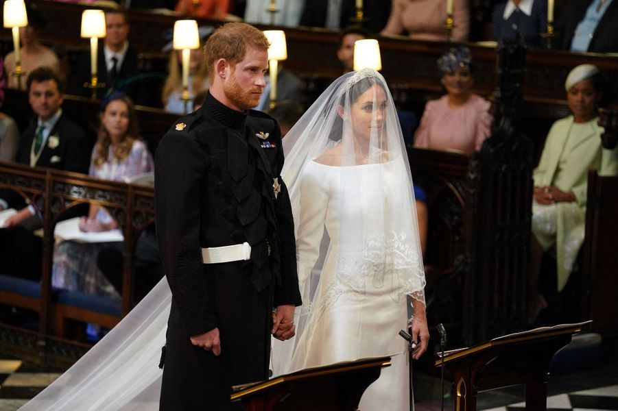 Harry et Meghan le jour de leur mariage en mai 2018