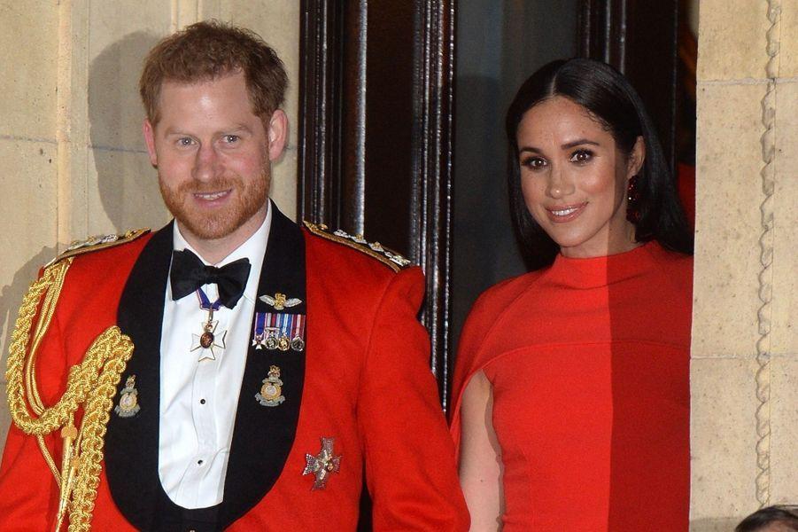 Harry et Meghan au Royal Albert Hall de Londres en mars 2020