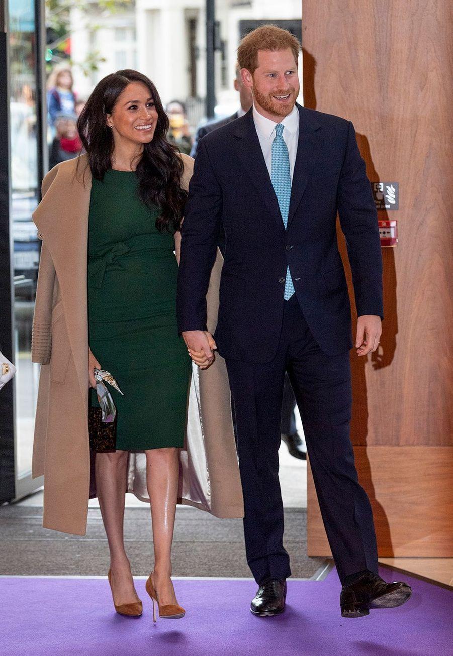 Meghan Markle et le prince Harry se rendent aux WellChild Awards à Londres le 15 octobre 2019.