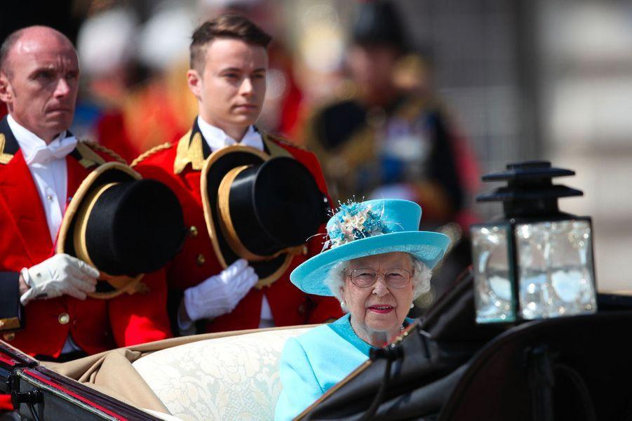 La reine Elizabeth II au Trooping the colour